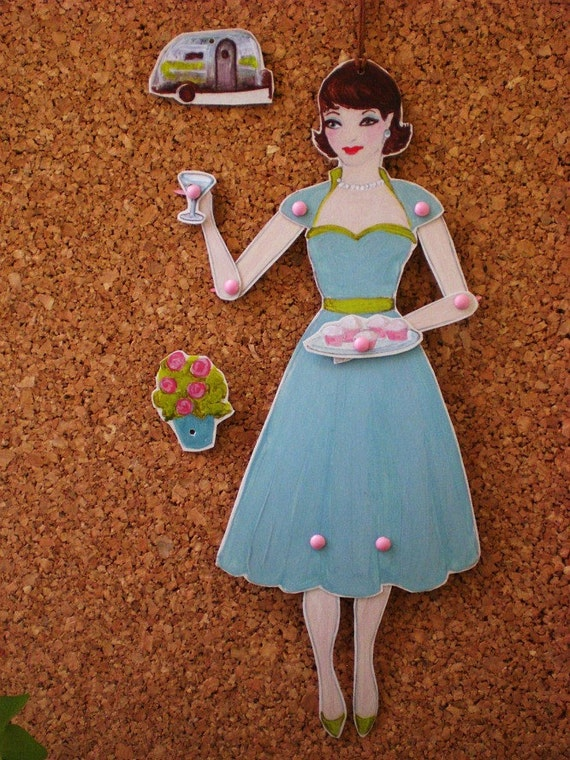 La Diva Airstream- Altar Ego, articulated paper doll, fully assembled