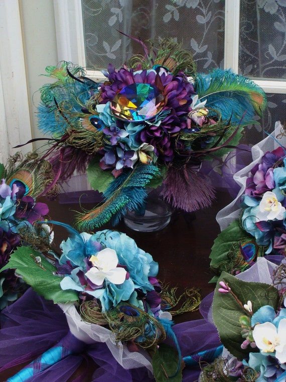 Peacock Diamond bridal package for Kimberly Prell  50% DEPOSIT LISTING for 09-2012