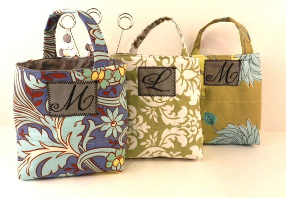 Bridal Party - Mini Tote Gift Bag (set of 10) w/Monogram