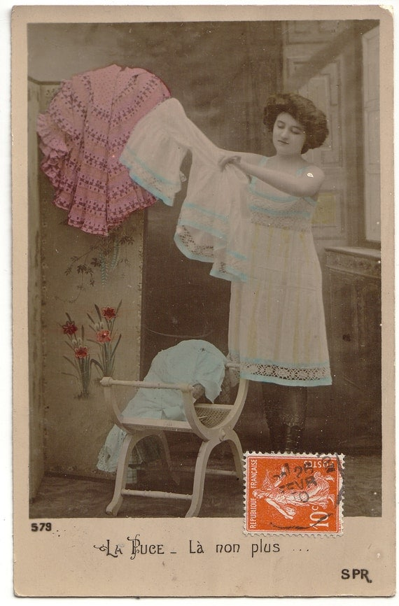 La Puce 1 - Vintage Открытка