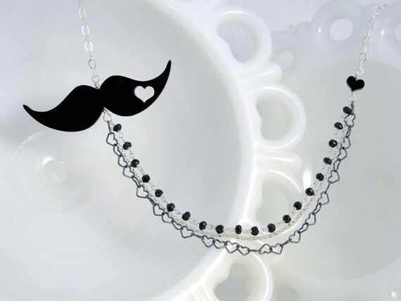 The Villain - Mustache Necklace