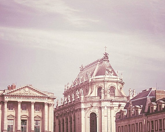 Paris Lavender - 8x10 Versailles Photo - Majestic, Elegant - Purple, Neutral, Architecture - Castle, Chateau, Palace - French, Romantic