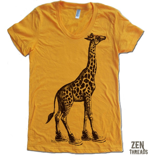 Womens GIRAFFE (in High Tops) american apparel T Shirt S M L XL (16 Colors Available)
