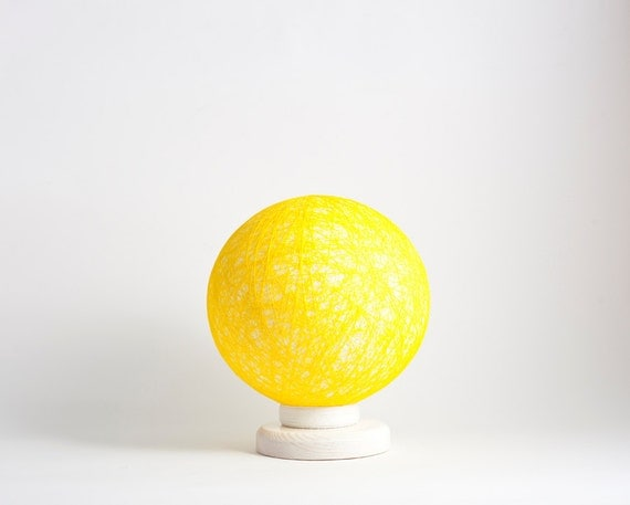 Table lamp, accent lamp, night light Little Sunshine, Contemporary design interior accent by FiligreeCreations on Etsy