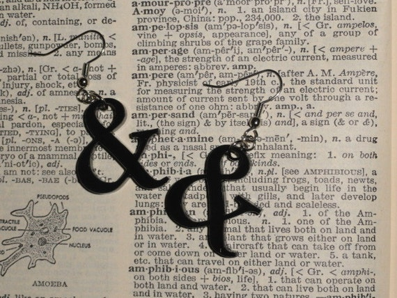 Ampersand Symbol Acrylic Earrings
