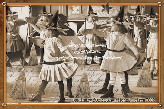 PRIMITIVE HALLOWEEN POSTCARDS - Seminary For Young Witches