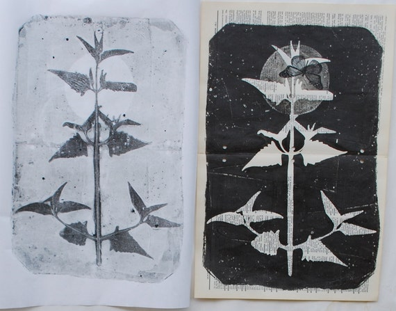 Moonlight Migration, gelatin monoprint