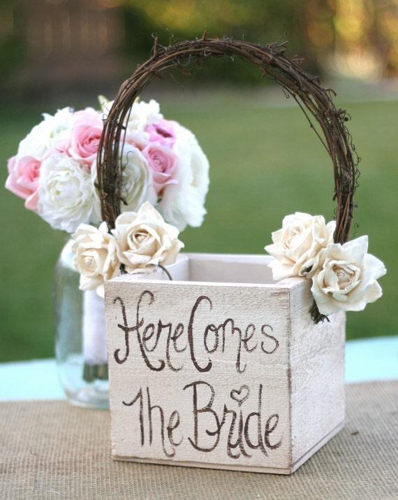 Потертый Chic Цветочница корзины Сельский Свадебный декор
