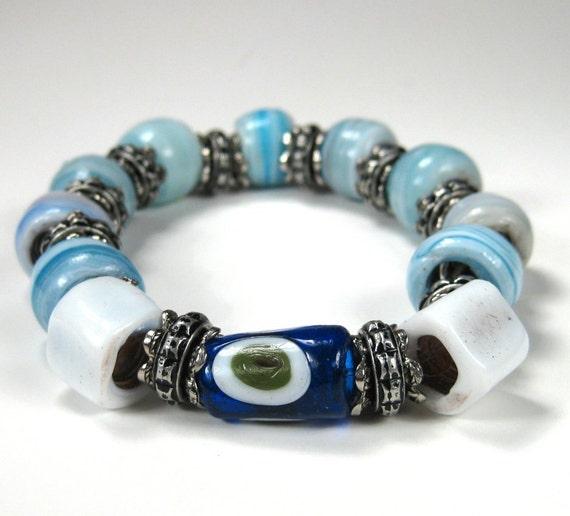 Gypsy Sky White and Blue Bracelet