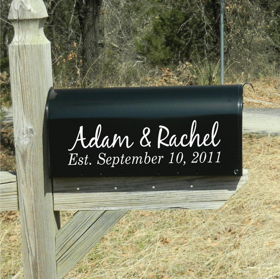 Personalized Wedding Mailbox Lettering Card Box Holder - Name, Address, Designs and more