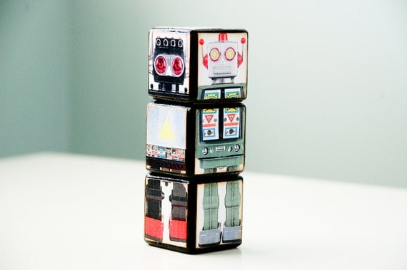 Switch-a-roo Retro Robot Puzzle Blocks