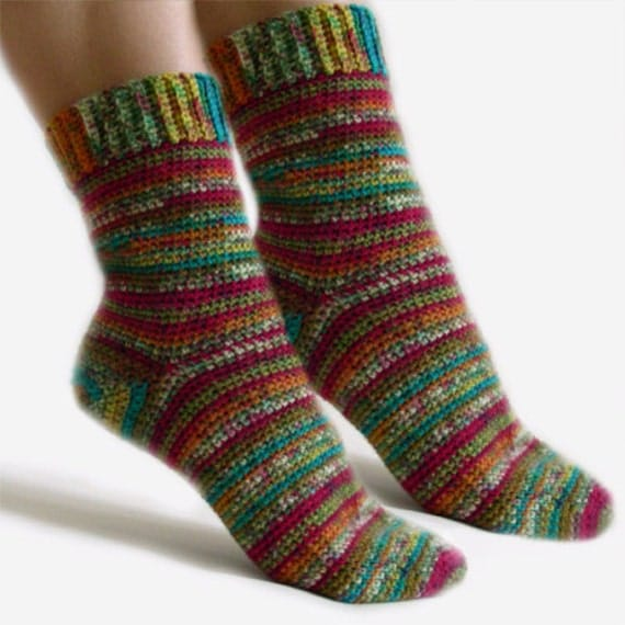 Free Crochet Sock Patterns Using Sock Yarn : BEGINNER CROCHET SOCK PATTERN Crochet Patterns