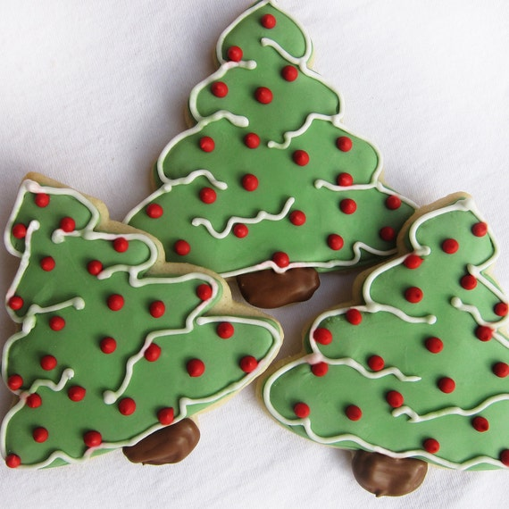 Christmas Tree Cookies - Holiday Cookies - Christmas Cookies