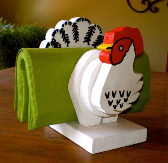 COUNTRY KITCHEN CHICKEN Napkin Holder