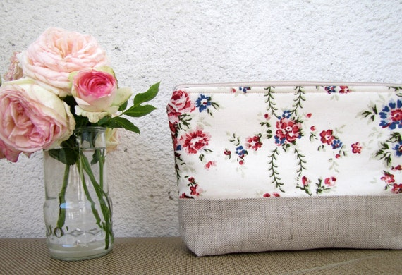 Aroma Garden - Clutch purse, Cosmetic bag, Zipper pouch
