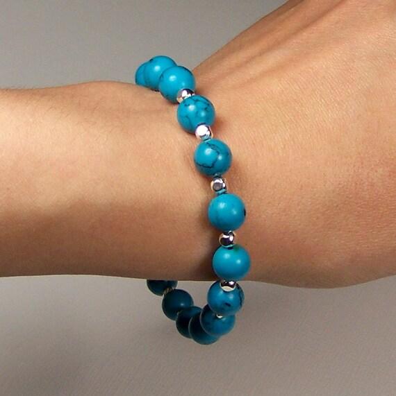 "Turquoise Bracelet for 6.5"" (16.5cm) Wrist"