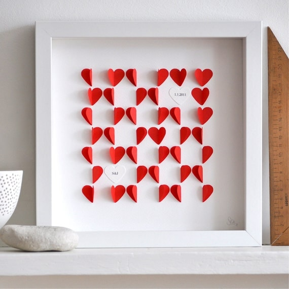 Personalized Love Hearts - Red