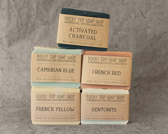 Detox Soap Set - Natural Soap, Handmade Soap, Unscented Soap, Cold Process Soap