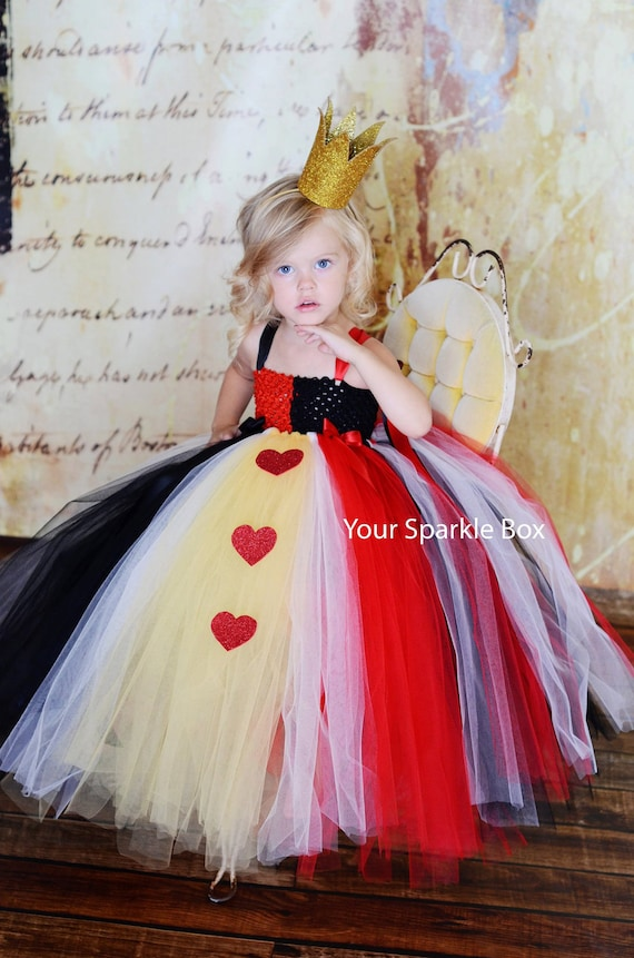 Queen of Hearts Costume Tutu Dress nb-4t PREORDER