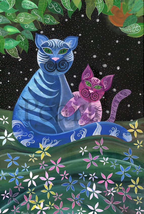 "Cats by Pearle 24""X36"" Print"