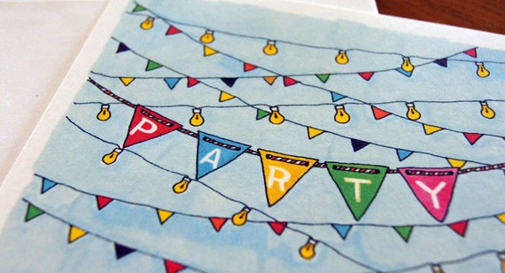 Late Summer Party Invitations