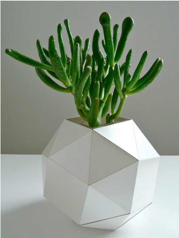 3d origami flower vase instructions