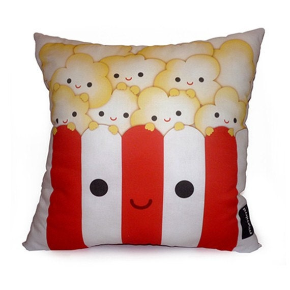 Deluxe Pillow - Yummy Popcorn