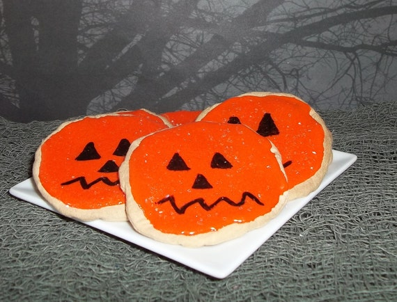Pumpkin Sugar Cookies Bowl Fillers Halloween Decoration