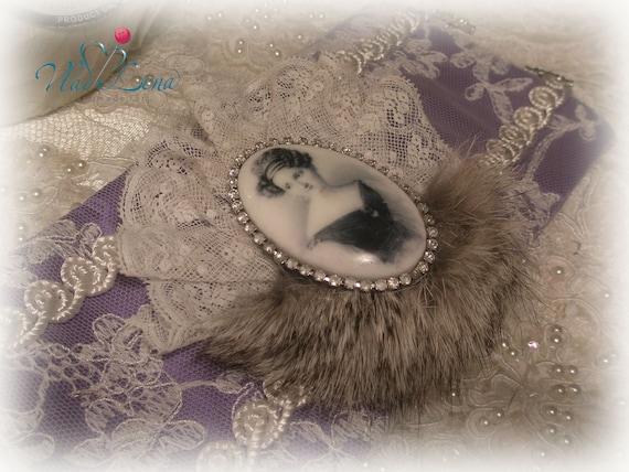 МОЦАРТ (4) Винтаж браслет манжеты Ткань