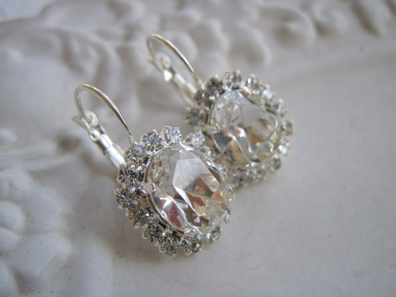 Swarovski Crystal Clear Diamond Earrings