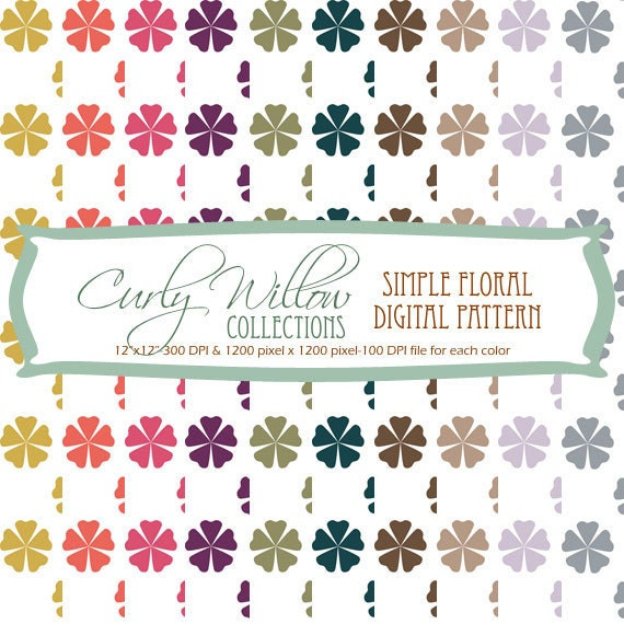 Simple Floral Digital Pattern