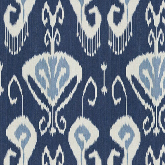 Kravet Bansuri ikat pillow cover in Iris Blue - 20 x 20