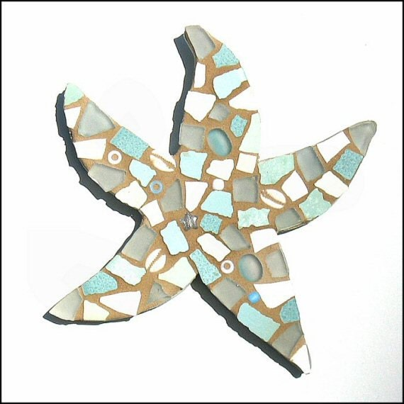 Aqua Mosaic Starfish Kit, Ceramic & Glass