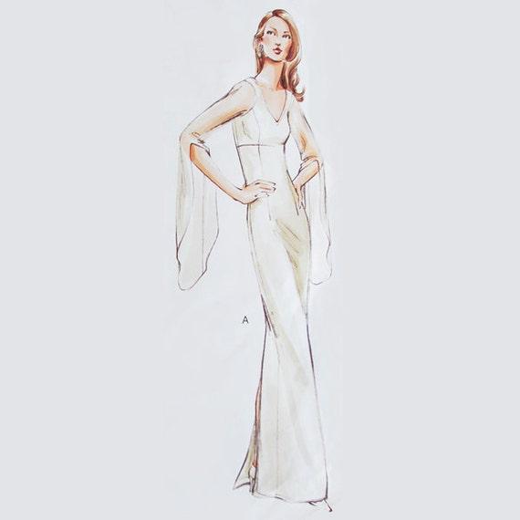 paper wedding dress template