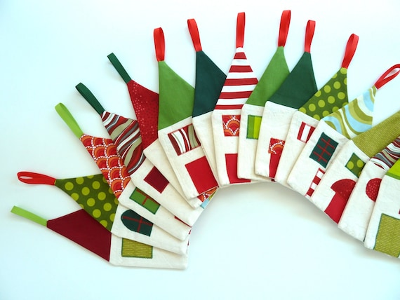 Christmas decoration Advent calendar Little Village - Made to order
