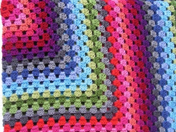 Sprinkles Crocheted Afghan Throw- Ready to ship