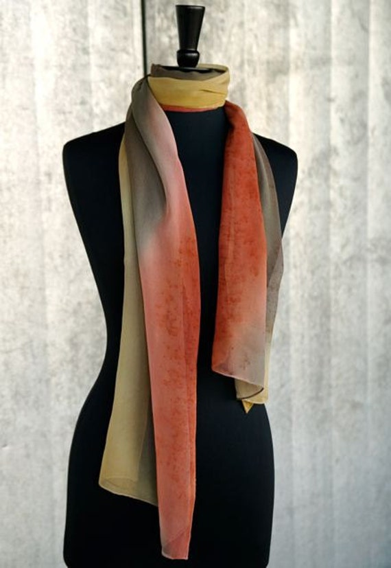 Pumpkin Spice Fall Fashion Silk Scarf