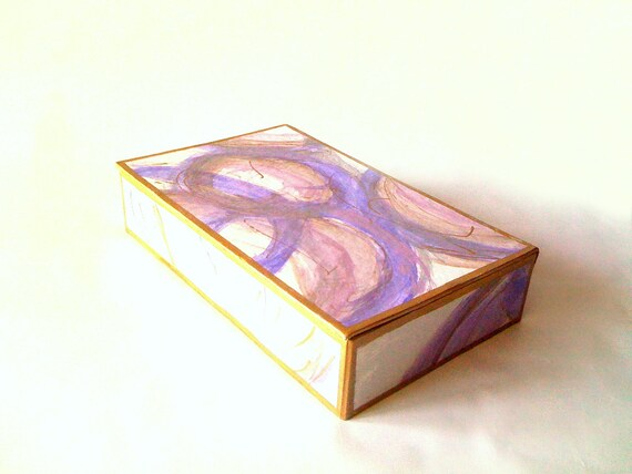 Purple and Lavender Cigar Box