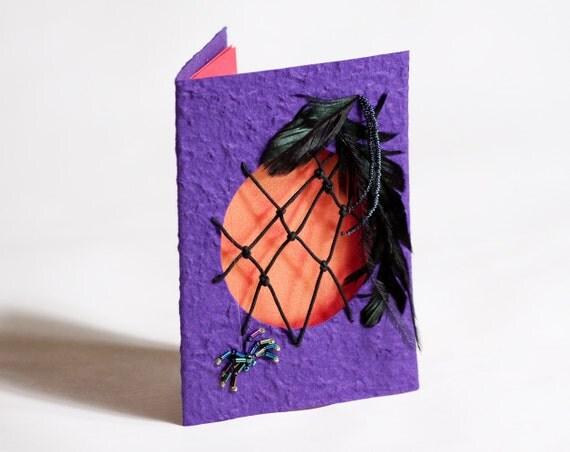 Spider Dreamcatcher Cobweb Embellished Card