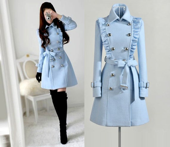Made to Order charming autumn wool coat jacket dress  (choice colour or any size