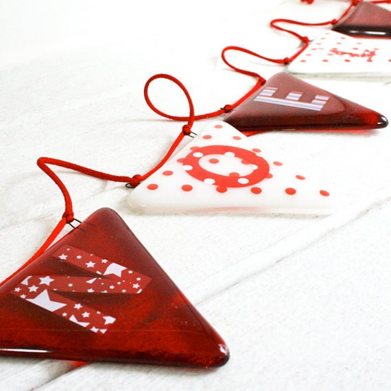 NOEL Christmas Glass Bunting