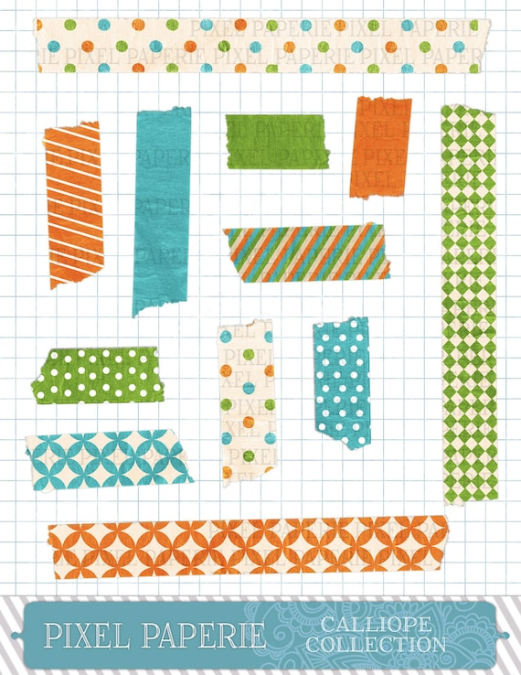 Calliope Collection DIGITAL Washi Tape (Personal and Limited Commercial Use)