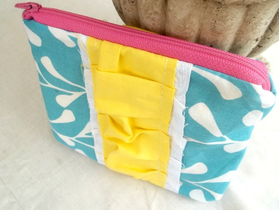 "5X7"" Zippered Pouch- Happy Turquoise"