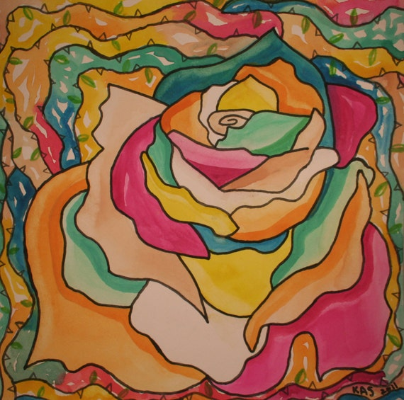 Watercolor Painting: Dreamy Rose