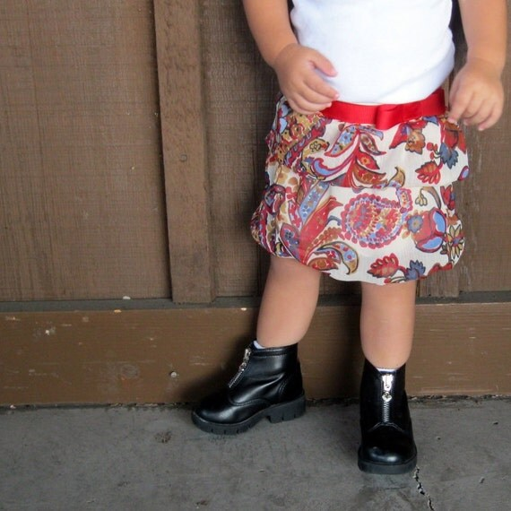Rory Double Bubble Skirt PDF Pattern and Tutorial in 7 Sizes