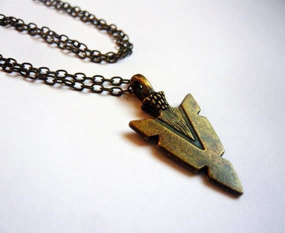 Navajo Arrowhead Indian Necklace by MaruMaru on Etsy from etsy.com