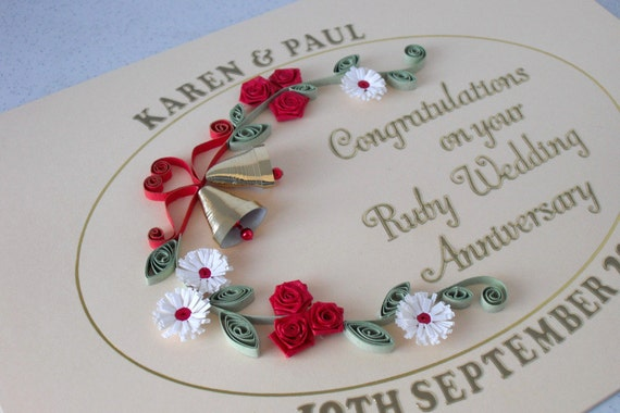 Unusual Ruby Wedding Gifts: Jinky's Crafts & Designs: 5 Unique Anniversary Gifts Ideas