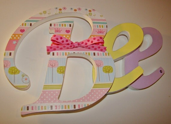 10 Inch Customized Wood Letters Nursery Home Decor Wedding