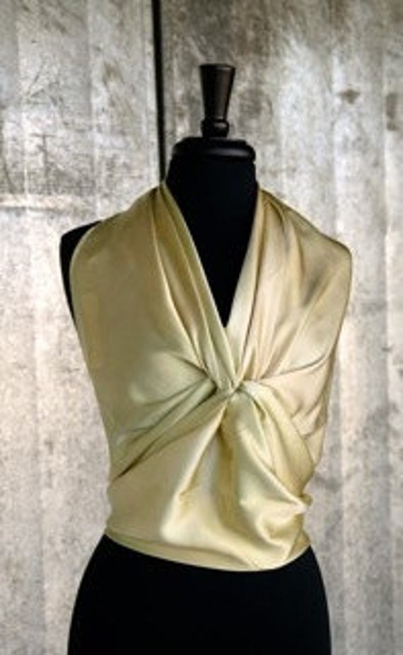 Luxurious Pale Gold Charmeuse Square