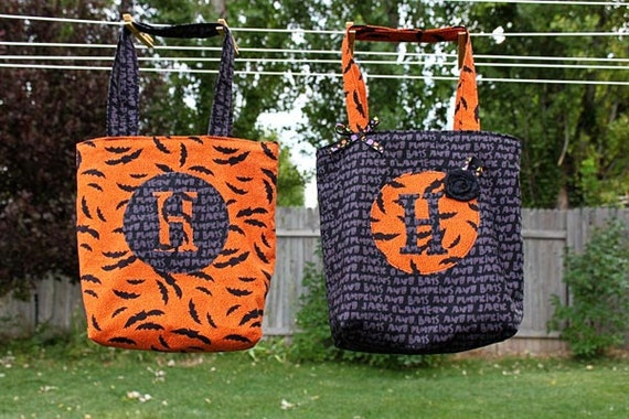 Halloween Trick or Treat Bag or Library Tote PDF Sewing Pattern